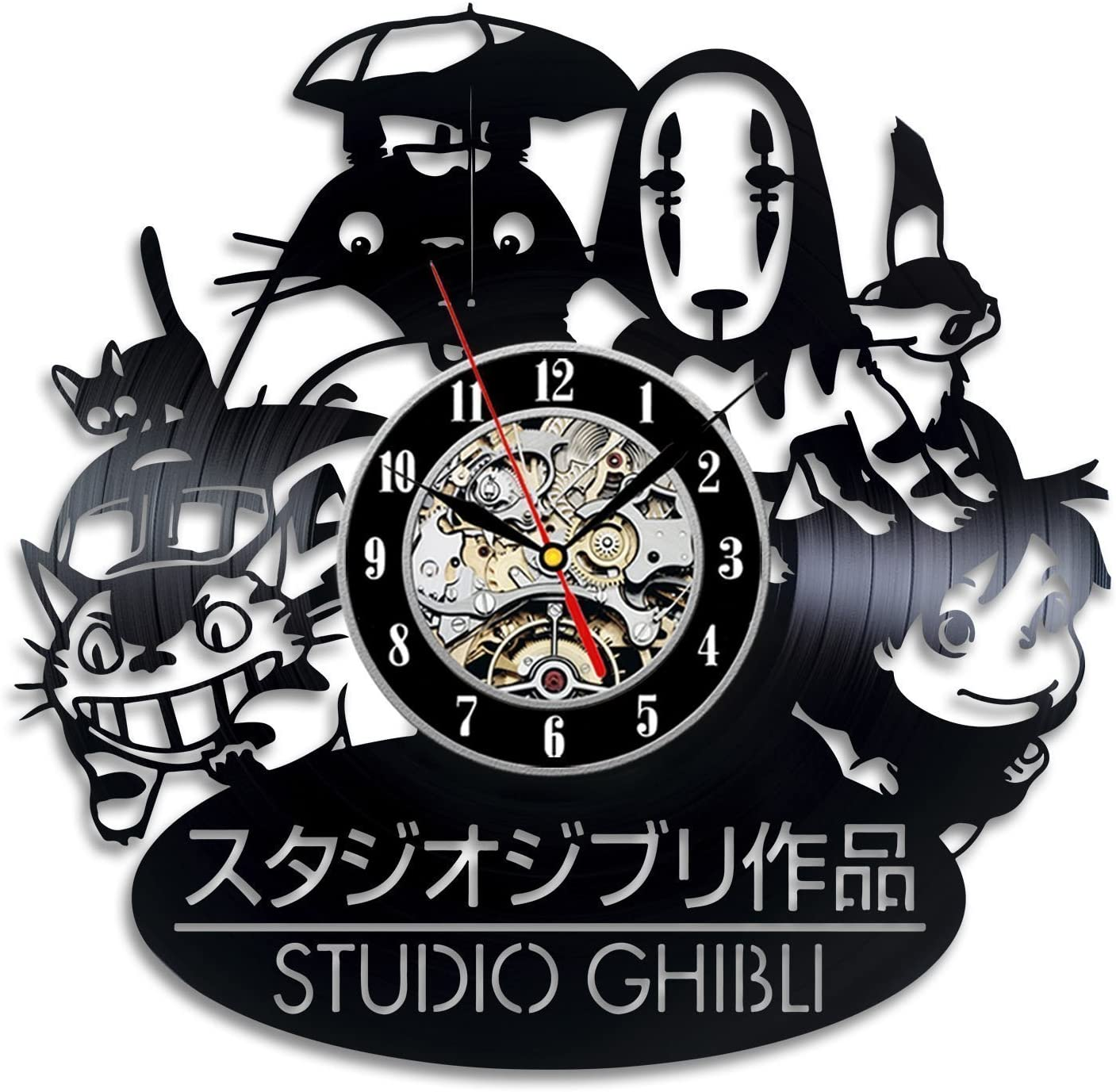 A picture of Gullei.com Ghibli Studio Japanese Cartoon Vintage Vinyl Wall Clock to better elaborate Cartoon Clocks: some of the most intriguing 2020
