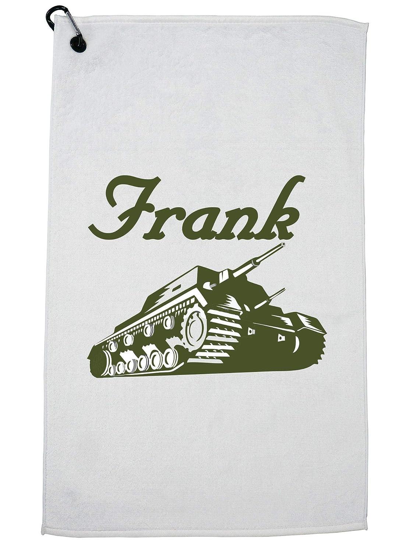 Hollywood Thread Trendy Frank the Tank カラビナクリップ付きグラフィック ゴルフタオル   B07G46ZYSL