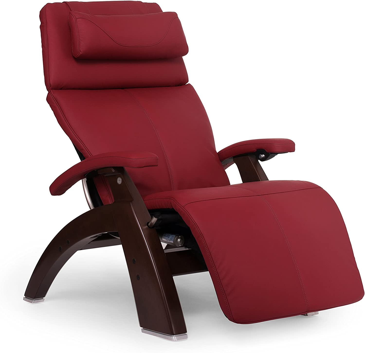 """Perfect Chair """"PC-610 Omni-Motion Classic"""" Top Grain Leather Zero Gravity Recliner, Red"""