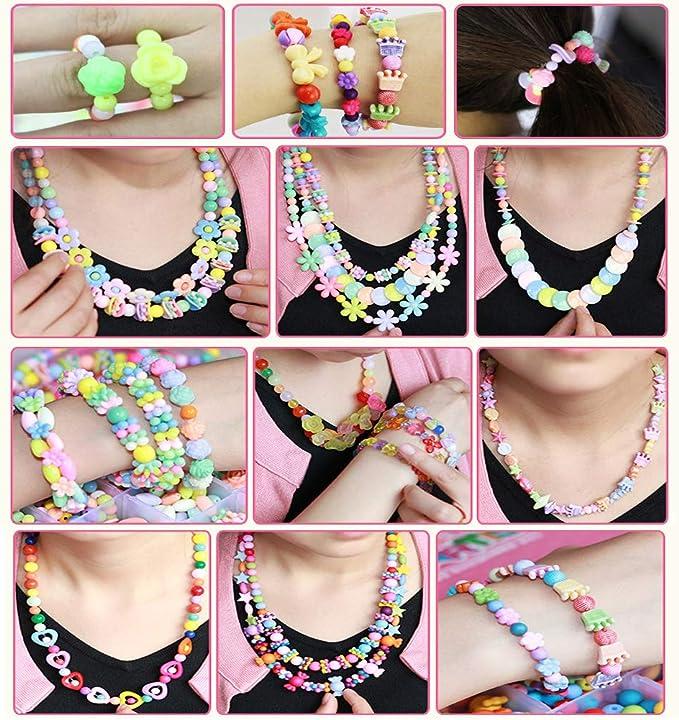 ★★ niños joyas bastelset para guardarlas acrílico perlas ★★