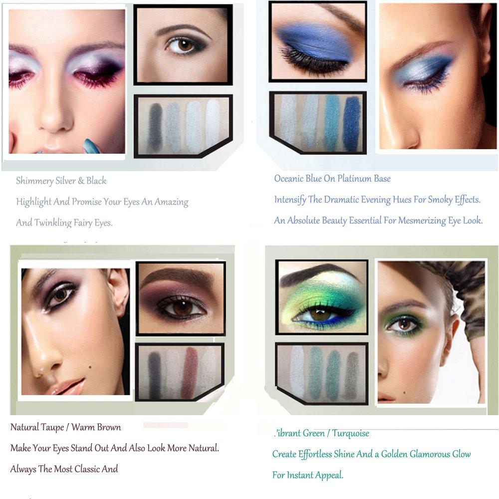 Anself Lidschatten-Palette mit 120 Farben 120 colores 2#