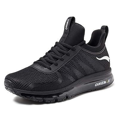 81f4e2909c33f ONEMIX Running Shoes Men Air Cushion Lightweight Sport Shoes 1191 Black 6.5