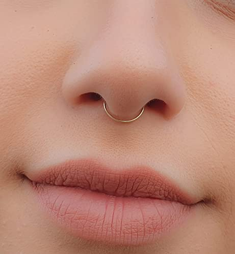 Thin Septum Ring 24 Gauge Septum Jewelry 14k Gold Filled Tiny