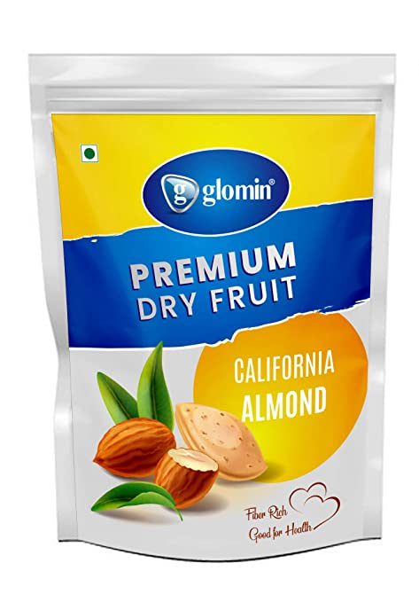 glomin Almond Raw 1kg(Pack of 1)