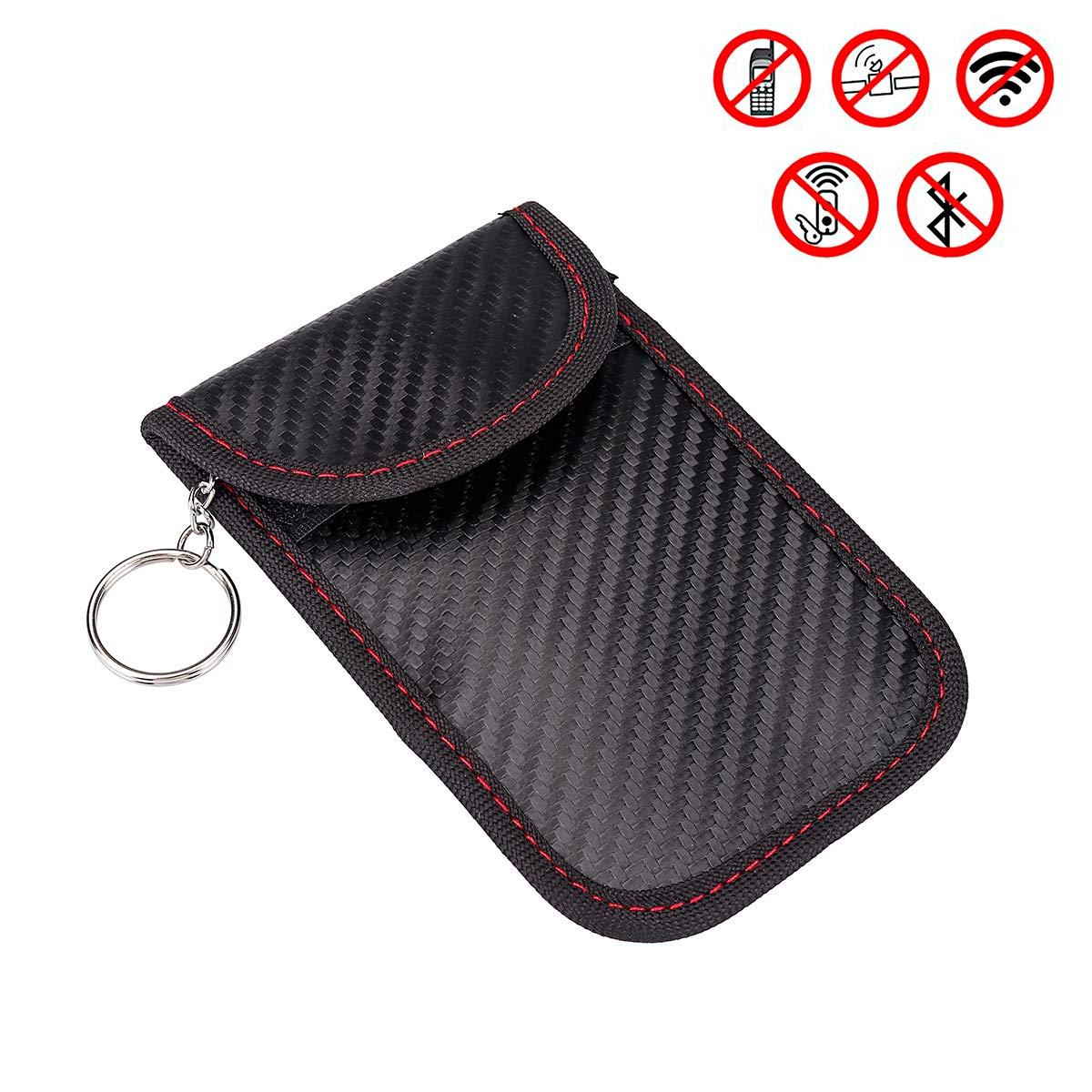 2 Pcs RFID Shield Car Key Fob Signal Blocking Pouch Bag Antitheft Devices Car Key Protector WiFi GSM LTE NFC RF Blocker Yeenee W0A0A2F5S