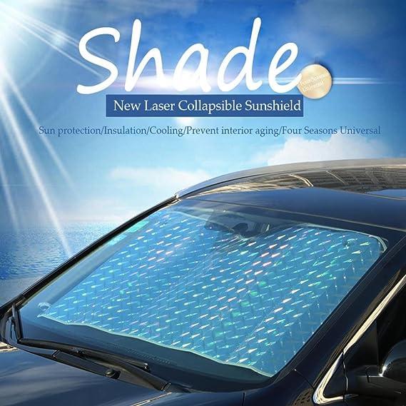 Amazon Com Sun Visor Car Foldable Windshield Laser Film Visor Cover