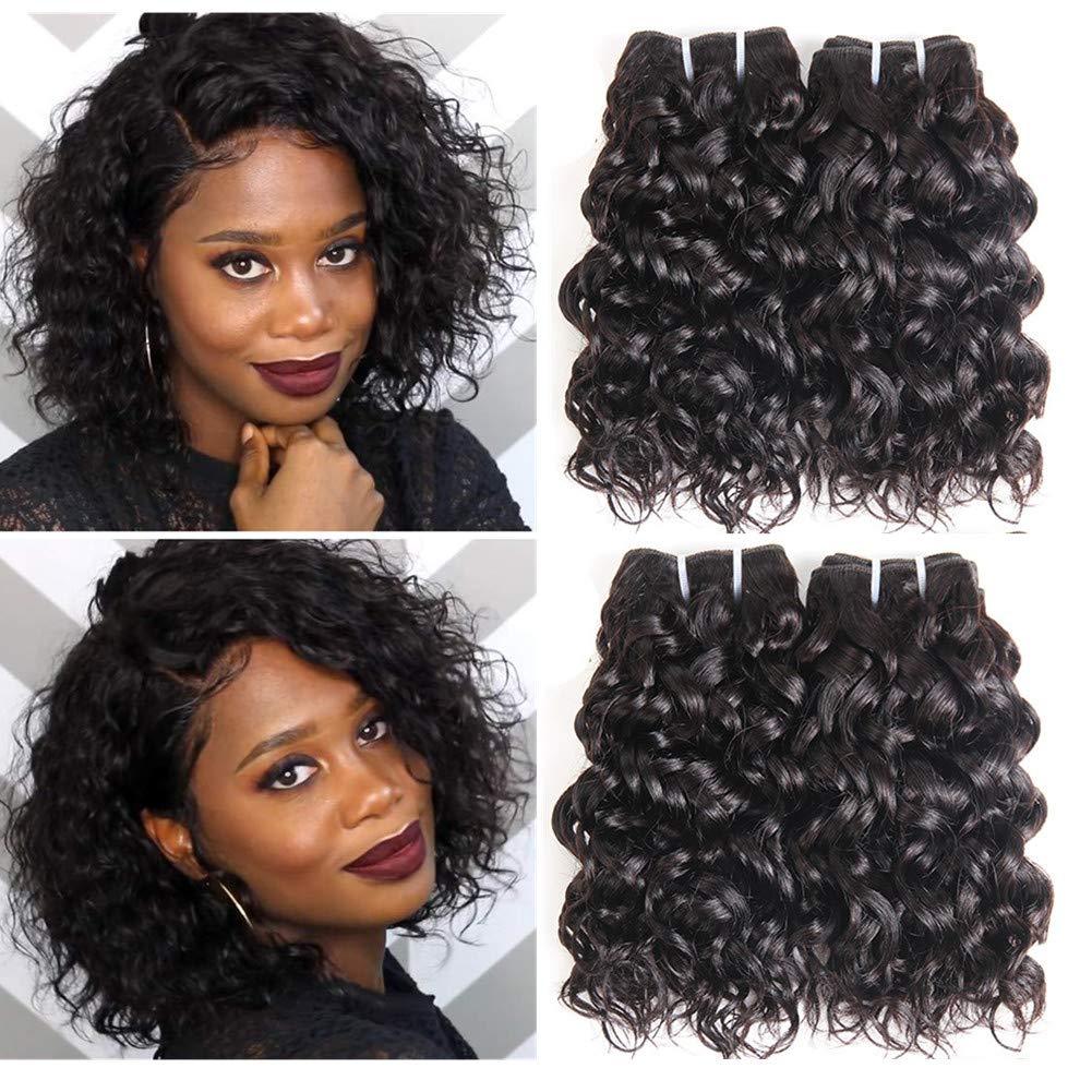 15a Brazilian Water Wave Bundles, Short Wet and Wavy Human Hair Bundles for  Black Women, Brazilian Curly Weave 15 Pcs 15 Unprocessed Ocean Wave Hair  ...