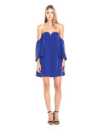 MILLY Women's Italian Cady Lola Dress, Cobalt, 0