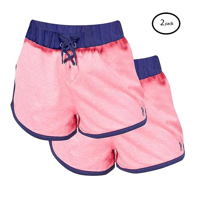 cf61890f361 U.S. Polo Assn. Womens Pajamas 2 Pack Sleep Shorts at Amazon Women's ...