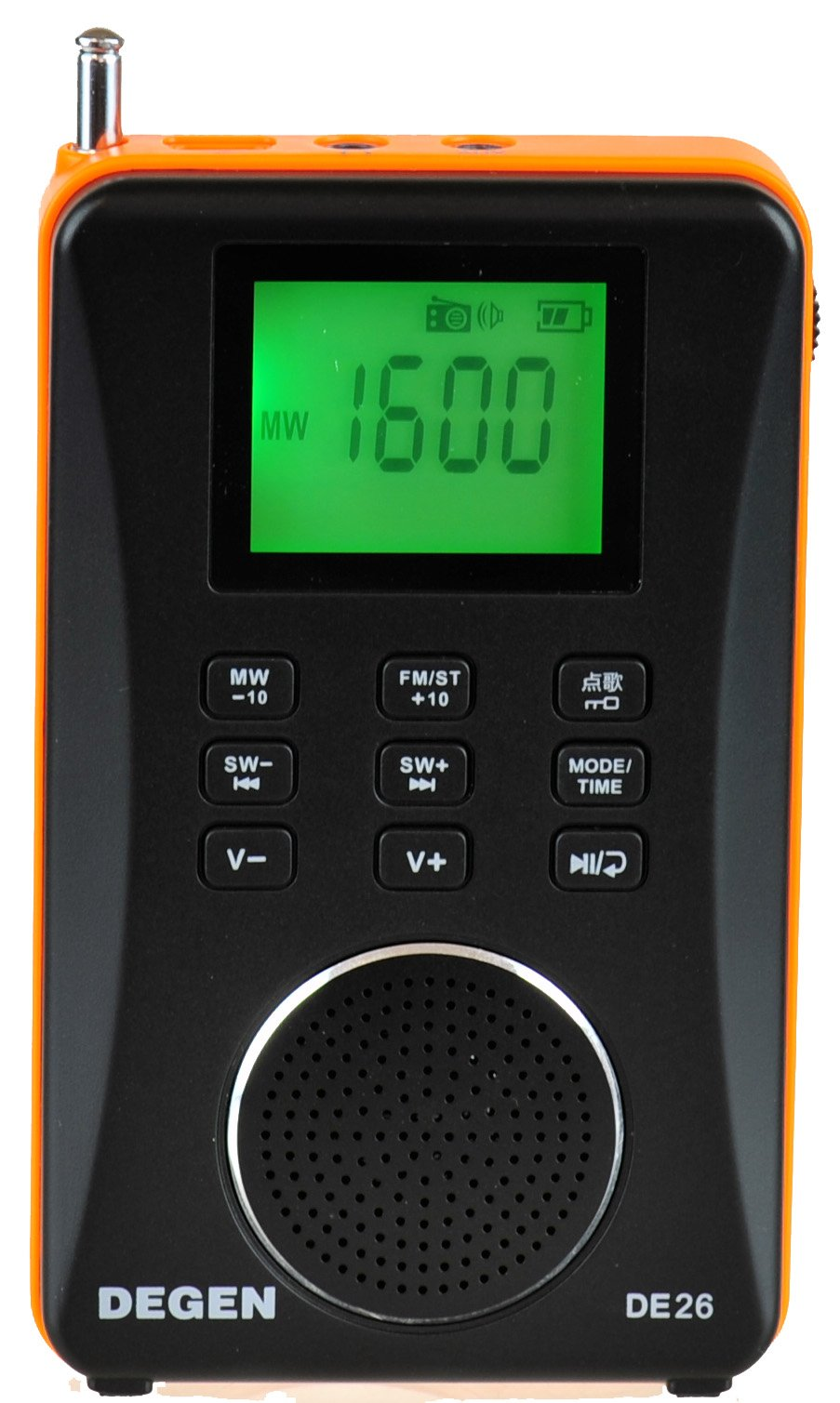 Degen DE26 3-in-1 Rechargeable AM/FM Shortwave Radio, Portable Speaker & MP3 Player with Built-in Micro SD/TF Card Reader