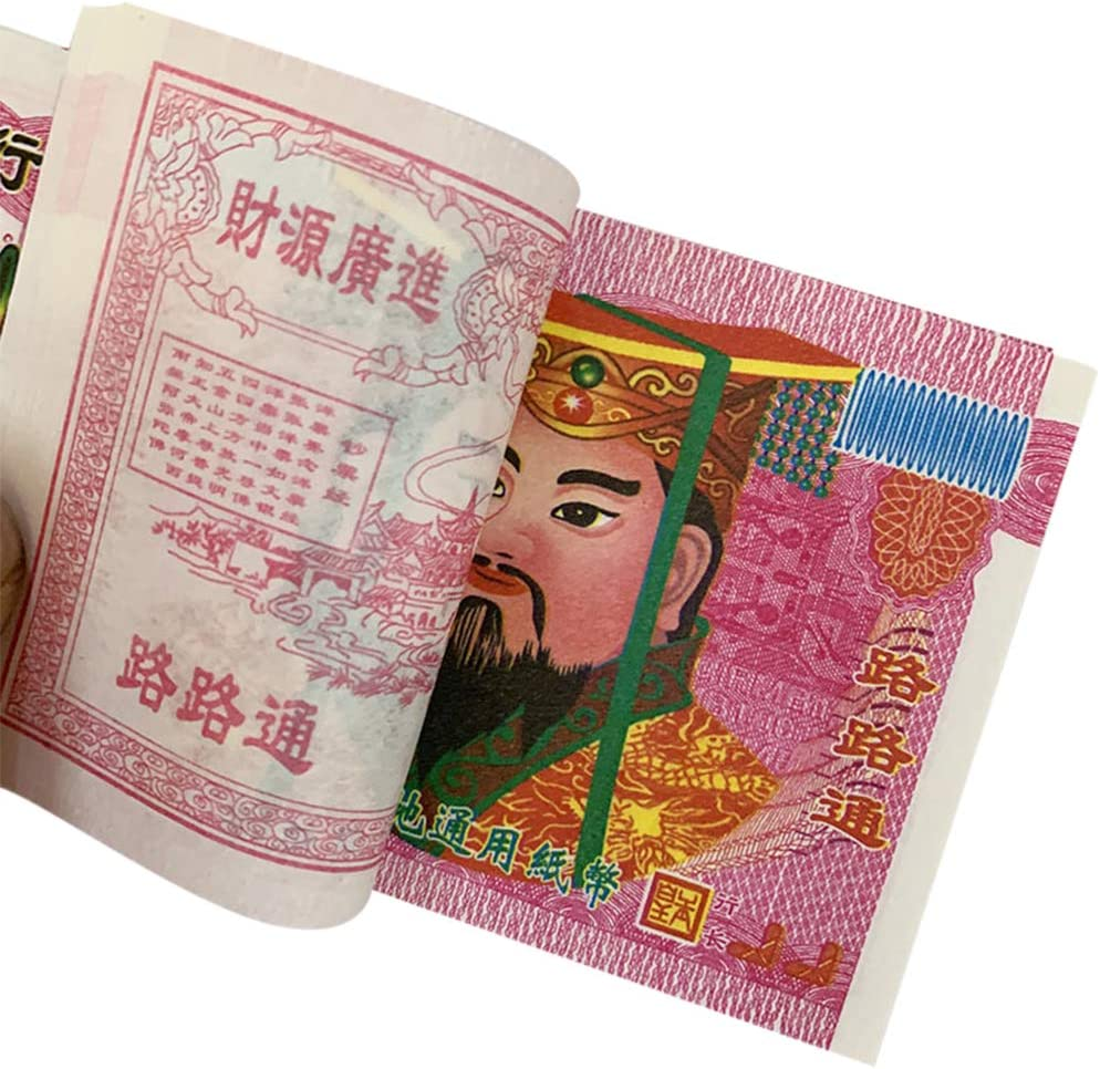 Funeral The Qingming Festival and The Hungry Ghost Festival 400 Pcs Chinese Joss Paper Money Hell Bank Note $10,000,000,000,000,000 Ancestor Money for Tomb-Sweeping Day