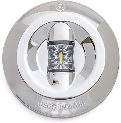 Universal Watertight Marine Boat LED Round 3 Nautical Mile Transom Light [Attwood] Picture