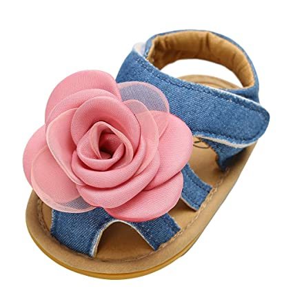 d7884c252ca3d Amazon.com: Cloudro Soft Sole Bbay Shoes Girls Closed-Toe Rose ...