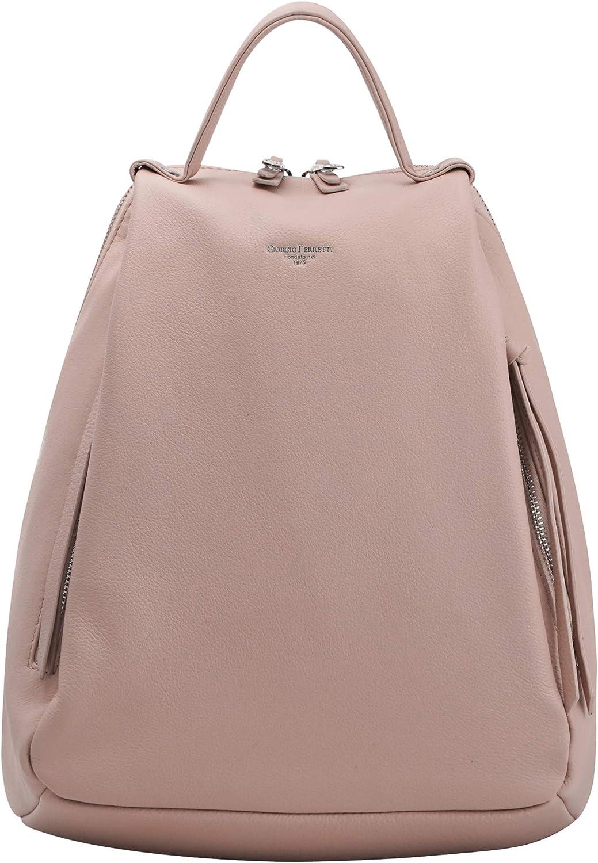 Women Genuine Real Cow Leather Backpack Shoulder Bag Handbag Purse Size Small