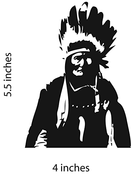 Geronimo sticker cut vinyl decal