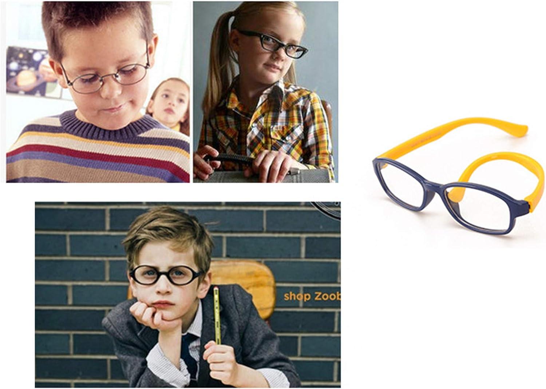 Kids Glasses Frame Clear Lens Plain Girls Boys Eyewear Glasses Case Cleaning Cloth