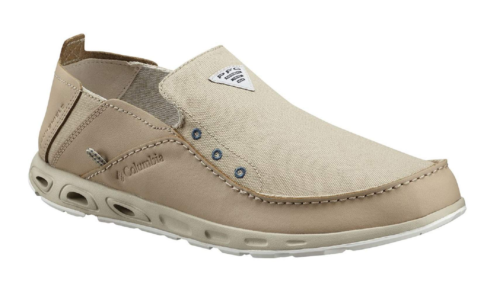 Columbia Men's, Bahama Vent PFG Slip-On - Wide Width Fossil 14 M Tan by Columbia