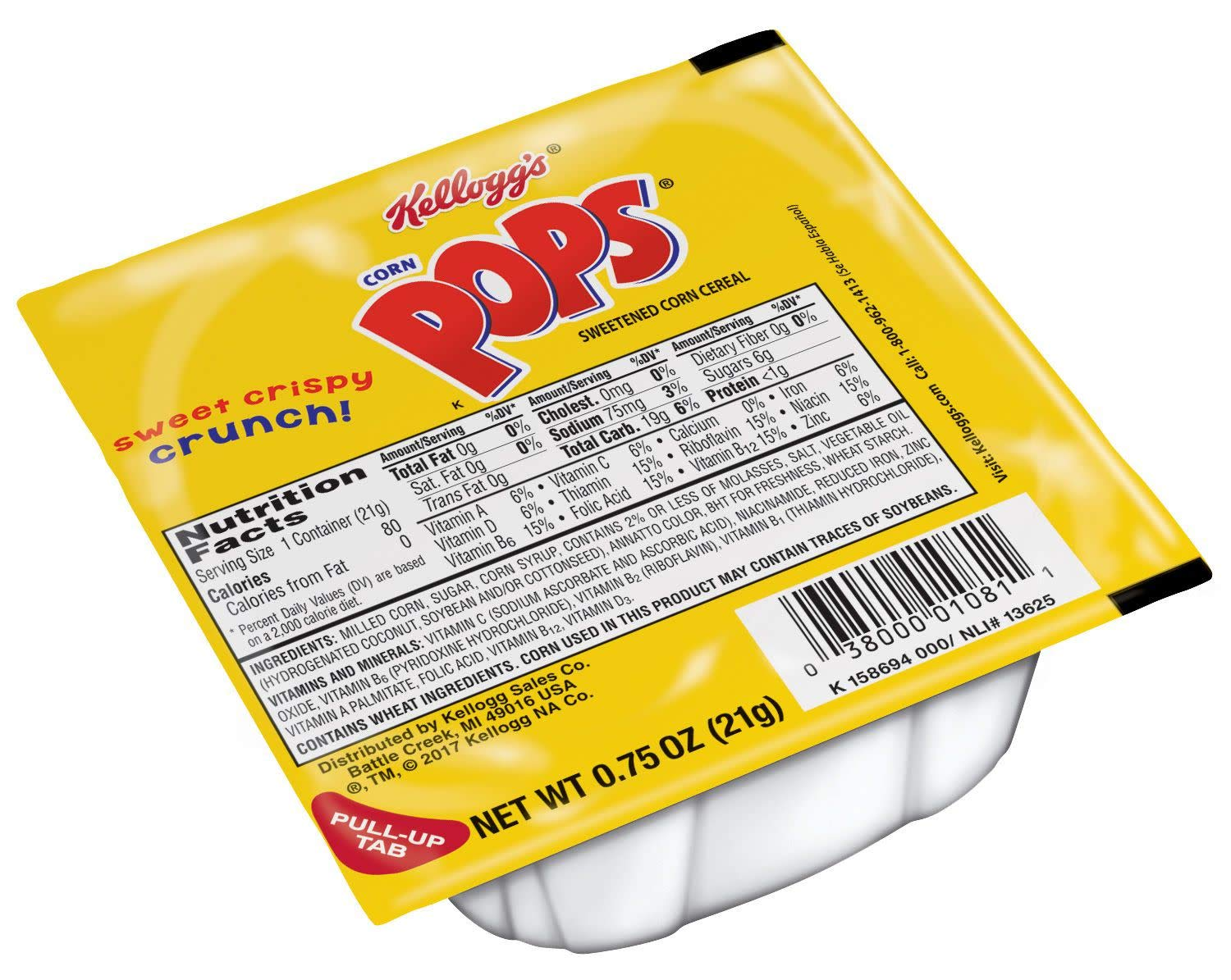 Corn Pops Cereal, 0.75-Ounce Single Serve Bowls (Pack of 96)