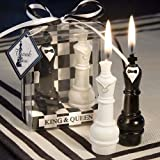 Osye Chess King & Queen Candles for Birthday/Party, Smokeless