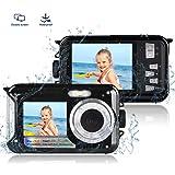 防水カメラ 水中カメラ デジタルカメラ デジカメ スポーツカメラ アクションカメラ フルHD 1080P 24.0MP 高画質 ケース不要(ブラック)