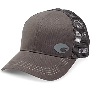 122983ab Amazon.com: Costa Del Mar Offset Logo XL Fit Trucker Hat, Gray: Clothing