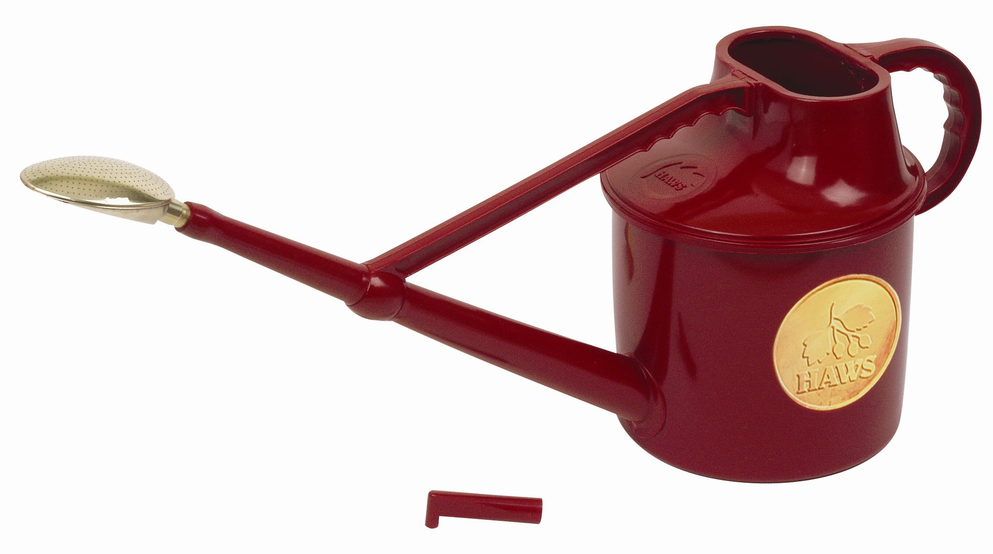 Bosmere Haws Deluxe Plastic Watering Can, 1.8-Gallon/7-Liter, Red