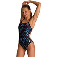 Arena Women's Print Challenge Back Reversible One Piece Swimsuit