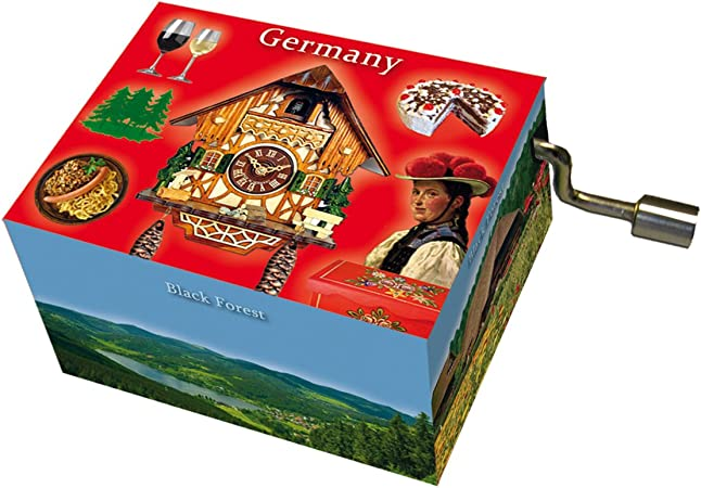 Fridolin 58443 Caja de m/úsica con Texto Beethoven Song of Joy//Germany Black Forest