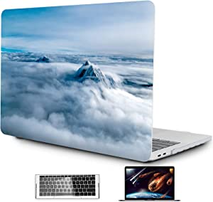 OneGET MacBook Pro 13 Inch Case 2016 2019 A1989 A1706 A1708 A2159 3 in1 Plastic Hard Shell Case & Keyboard Cover & Clear Screen Protector (S76)