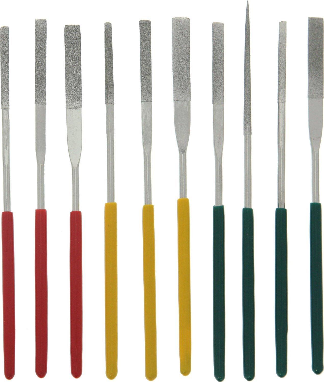 SE 742DF File Set Tapered Diamond Needle, 3 mm x 140 mm x 70 mm (10 PC.) Sona Enterprises