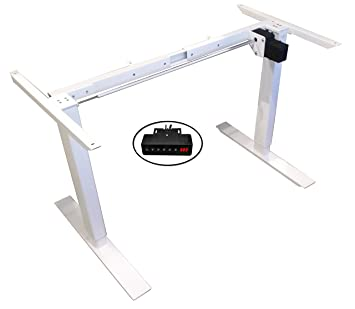 anthrodesk sit to stand electric adjustable height standing desk rh amazon ca
