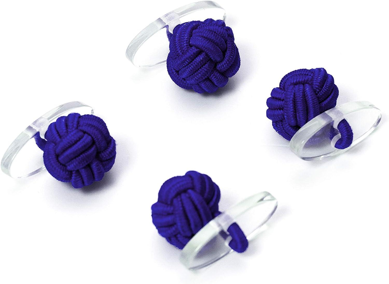 1 paire de boutons de manchette n/œud de soie blanc et noir tissu de haute qualit/é boutons de manchette n/œud Gentleman Wrap poignet /élastique style London poignet Bull /& Drake