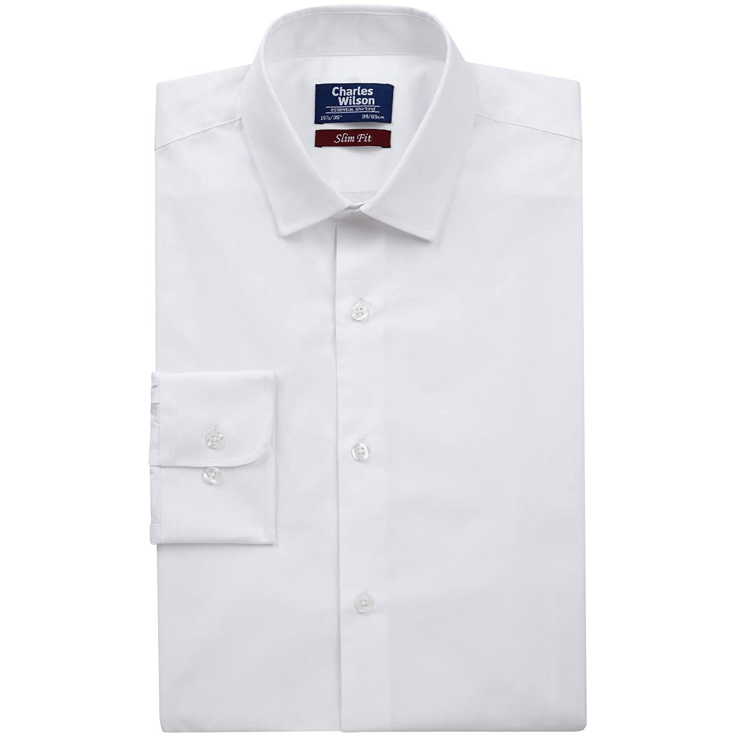 Charles Wilson Button Cuff Formal Shirt