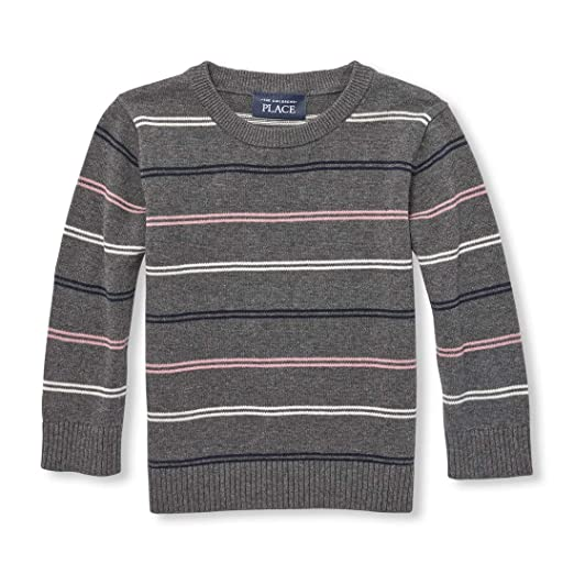 eab80cf9a0ea Amazon.com  The Children s Place Baby Boys Striped Crew Neck Sweater ...