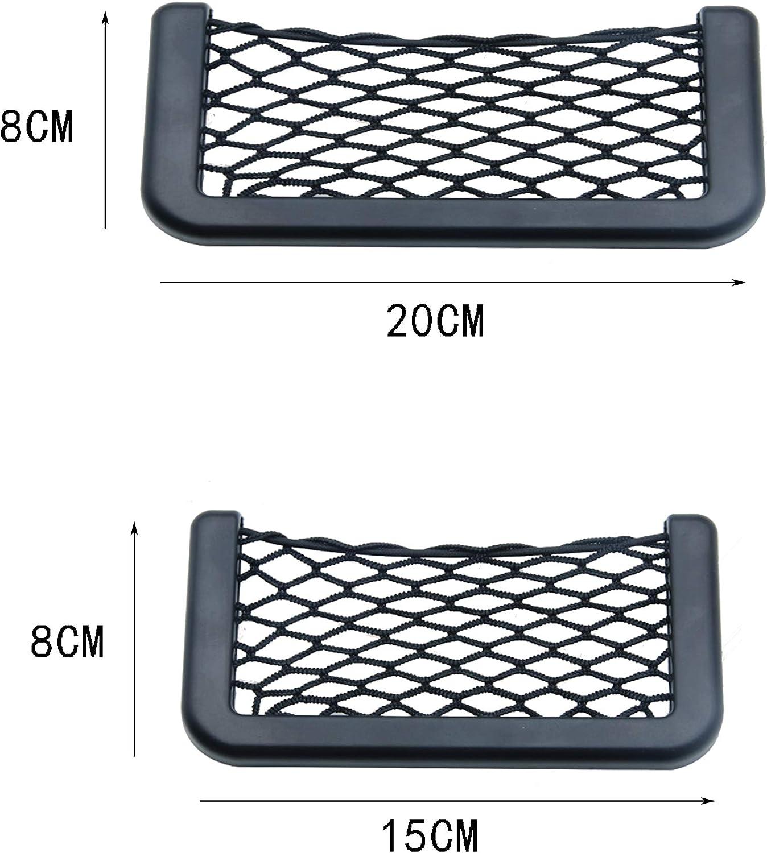 FGX 4 Pezzi Rete Portaoggetti per Auto Ideale per Telefoni E Pacchetti di Sigarette per Il Sedile Posteriore con Adesivi Elastica per Car Sedile Groceries Rete Portaoggetti per Auto Bagagliaio