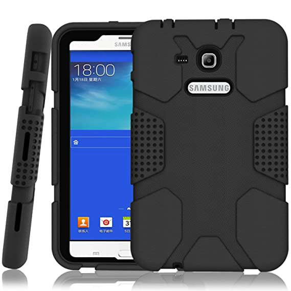 arrives 28d82 67fc1 Hocase Galaxy Tab E Lite 7.0 (2016) Case, Rugged Heavy Duty Kids Proof  Protective Case for Galaxy Tab E Lite 7.0 SM-T113NDWAXAR/SM-T113NYKAXAR -  Black