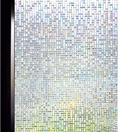 MINI MOSAIC Window Privacy Film static cling front door window patio decal