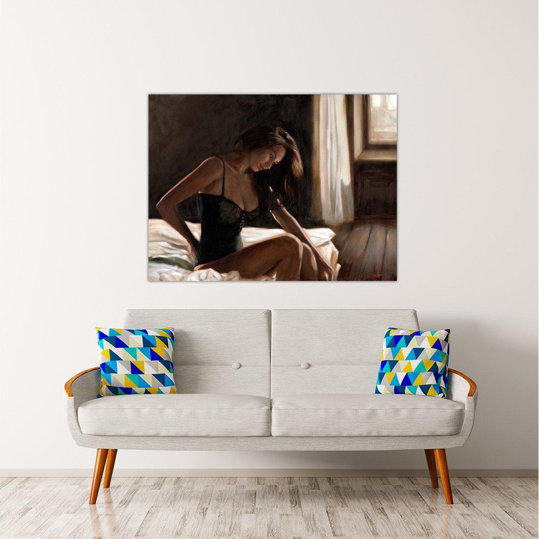 Rahmen Druck auf Leinwand Leinwand Leinwand mit Keilrahmen John Silber Dim Light 135x100 CM B07BTCS51B | Spezielle Funktion  562f13