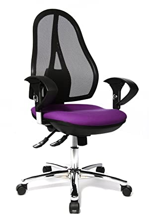 Topstar OP290UG03 Open Point SY Deluxe - Silla giratoria para Oficina (Incluye Brazos), Color Morado: Amazon.es: Hogar