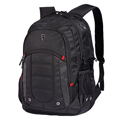 Victoriatourist V6060 Laptop Backpack College Rucksack Business Bag with 2 Laptop Tablet Compartments Fits Macbook Pro/Most 16 Inch Laptops (Black)