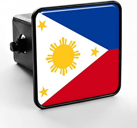 Philippines Flag Hitch Cover Cap 2 Receiver Black with Chrome ...