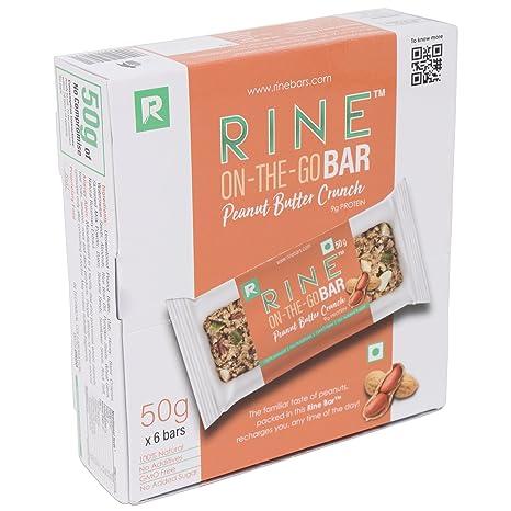 Rine Bars Peanut Butter Crunch Granola Bar (Pack Of 6)