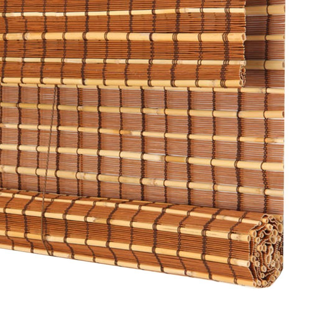 すだれ 竹カーテン 竹製カーテン シェーディング 日焼け止め カーテン ロールアップリフティング 仕切り 世帯 ティールーム、 カスタマイズ可能,A,W85*H150CM   B07SKTRHG9