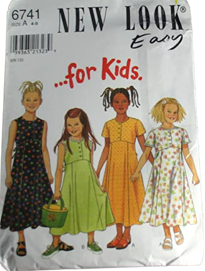 Amazon.com: New Look 6741 Sewing Pattern Girls Dresses Size A 4-9