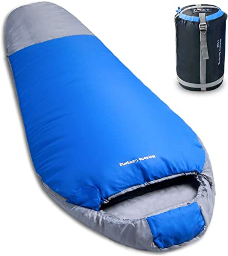 NORSENS Mummy Sleeping Bag – Compact Sleeping Bags for Adults with Compression Sack Portable for 3 Season Camping, Backpacking, Hiking