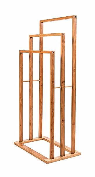 Handtuchhalter Ständer handtuchhalter ständer aus bambus 3 ablagen massiv freistehendes
