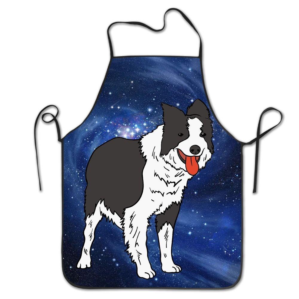 CAIS Nduq Personalizedパターンギフトエプロンノベルティ面白いかわいい面白いSheepdog Galaxyキッチンエプロンfor Cooking Bakingガーデニングペットグルーミングクリーニング   B07D1NQM4G