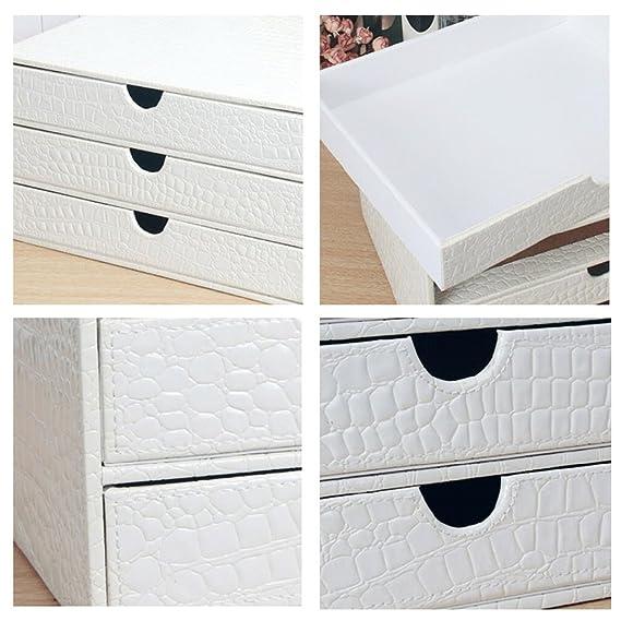 Amazon.com: File Cabinets Artificial Leather Office Storage Box White A4 DELICATEWNN: Home & Kitchen
