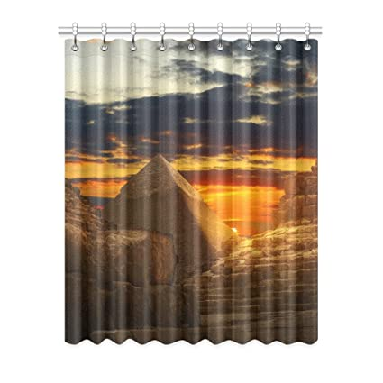 Egyptian Sphinx and Pyramid Window Curtain Panels Door Window Curtains for Living Room Bedroom Kid  sc 1 st  Amazon.com & Amazon.com: Egyptian Sphinx and Pyramid Window Curtain Panels Door ...