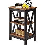 VECELO Modern Night Stand/Sofa Side/End Storage Shelf X-Design Versatile Nightstands Lamp Table Living Room Bedroom Furniture